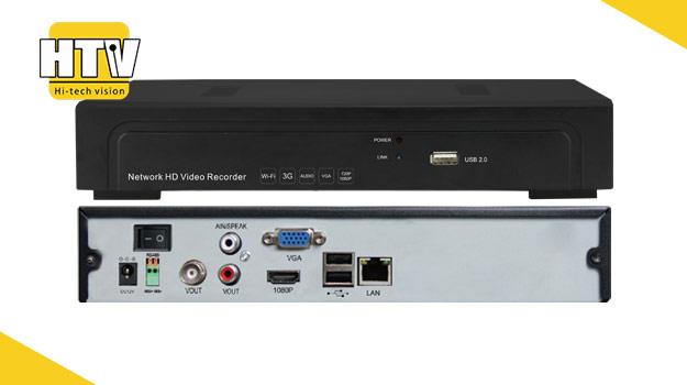 4 канальный NVR IP видеорегистратор HTV-IP-1004