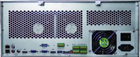 HTV-N4256 256 канальный NVR IP видеорегистратор H.265 4K 4U Тыл