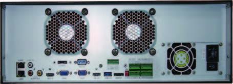 HTV-N3xxx 128-256 канальный NVR Тыл